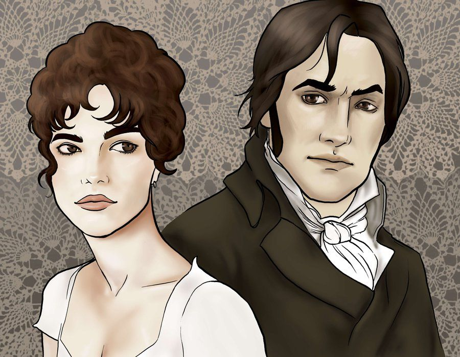 lizzy and darcy by rogueglitter com on  pride and prejudice fitzwilliam darcy x elizabeth bennet