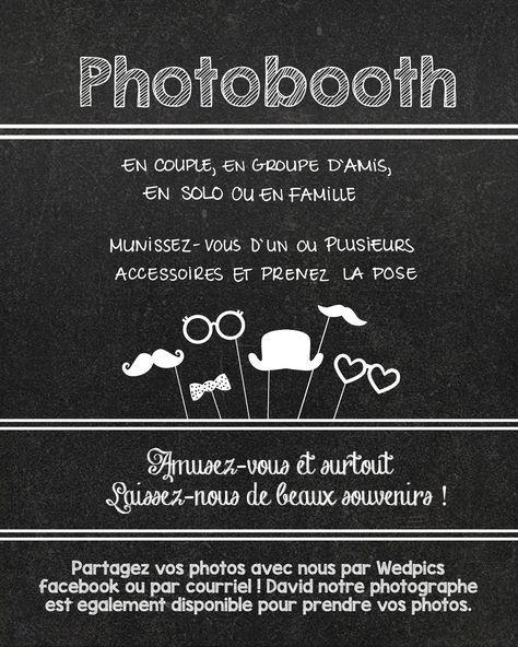 directives pour photobooth imprimer et encadrer planifier notre mariage mariage wedding. Black Bedroom Furniture Sets. Home Design Ideas