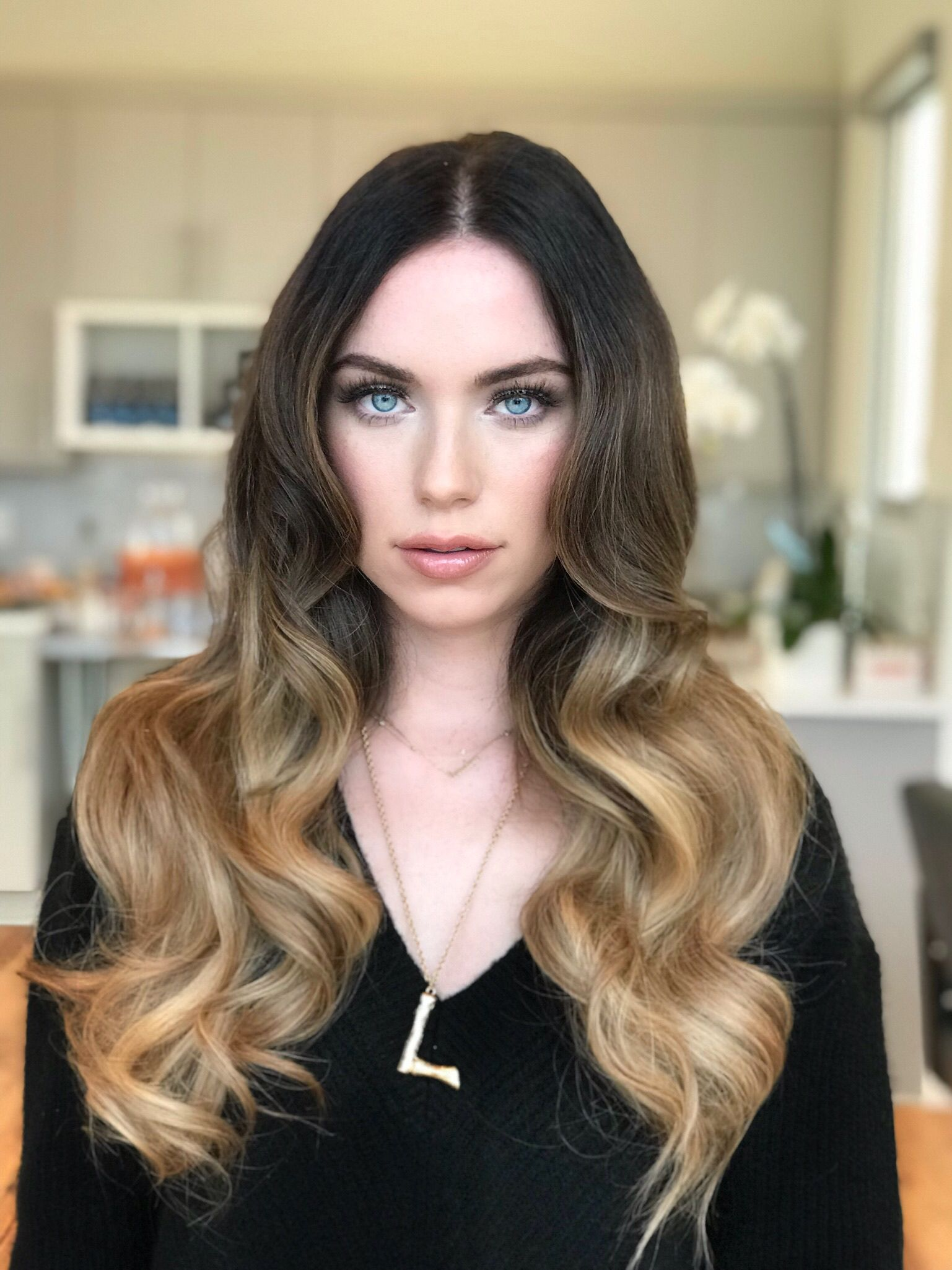 Creating length volume and balayage color using only hair