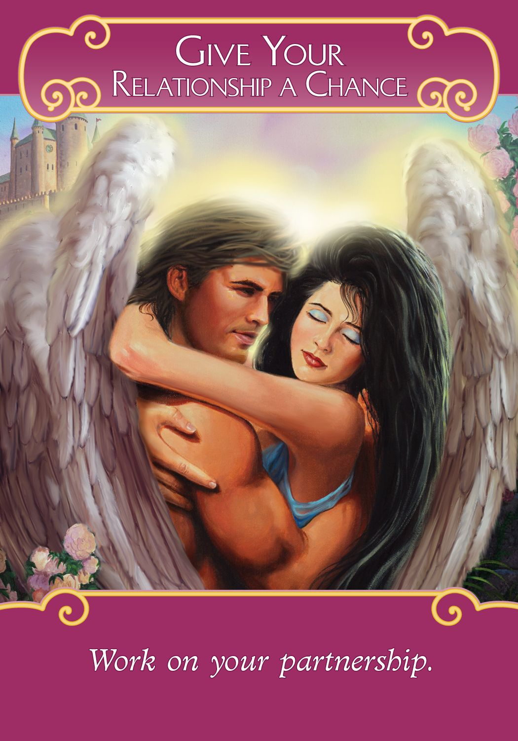 Oracle Card Give Your Relationship A Chance | Angel tarot cards, Angel  oracle cards, Free tarot cards