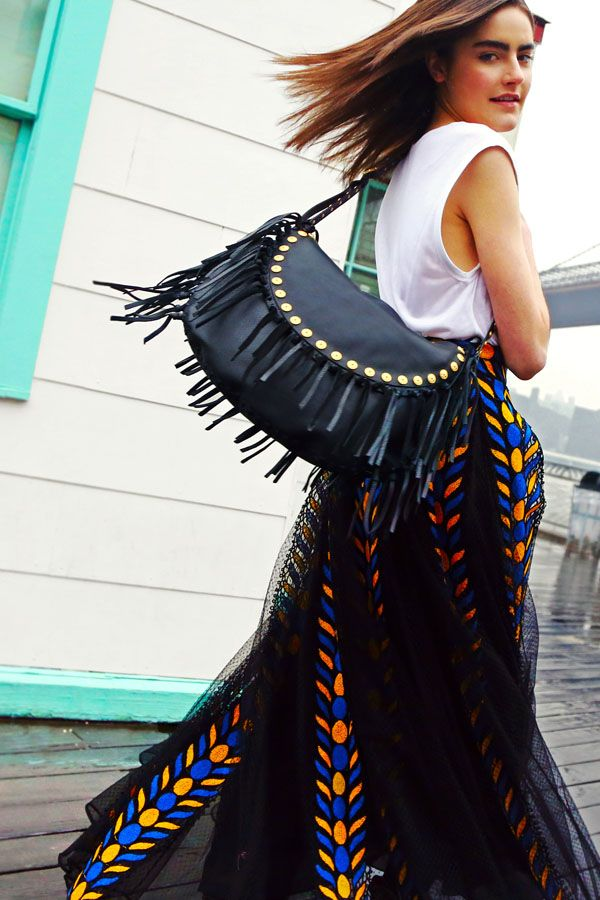 Can't get enough of Valentino's fringe!