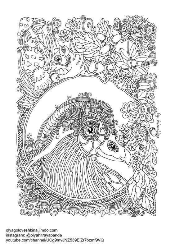 Pin de Barbara en coloring birds | Pinterest