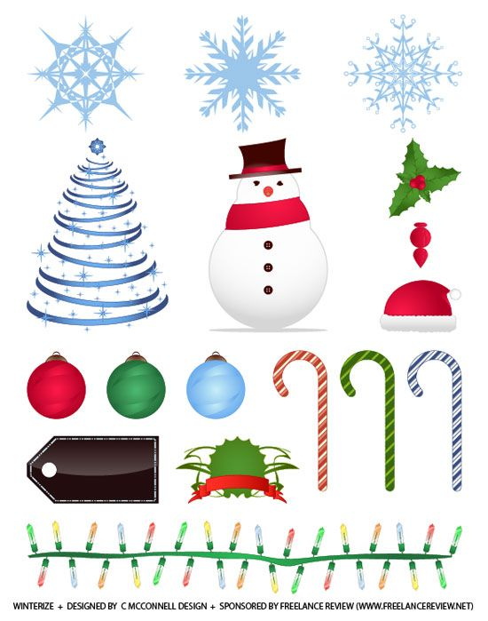 15+ Free Holiday  Winter Vectors Winterize Clipart, design