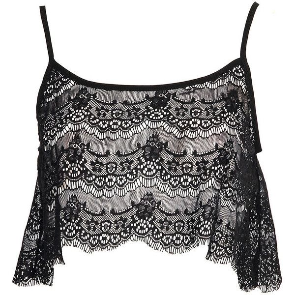 Boohoo Emma Lace Swing Crop Vest ($16) ❤ liked on Polyvore featuring tops, shirts, crop tops, vest top, crop top, cropped vest, lace tank and crop tank top