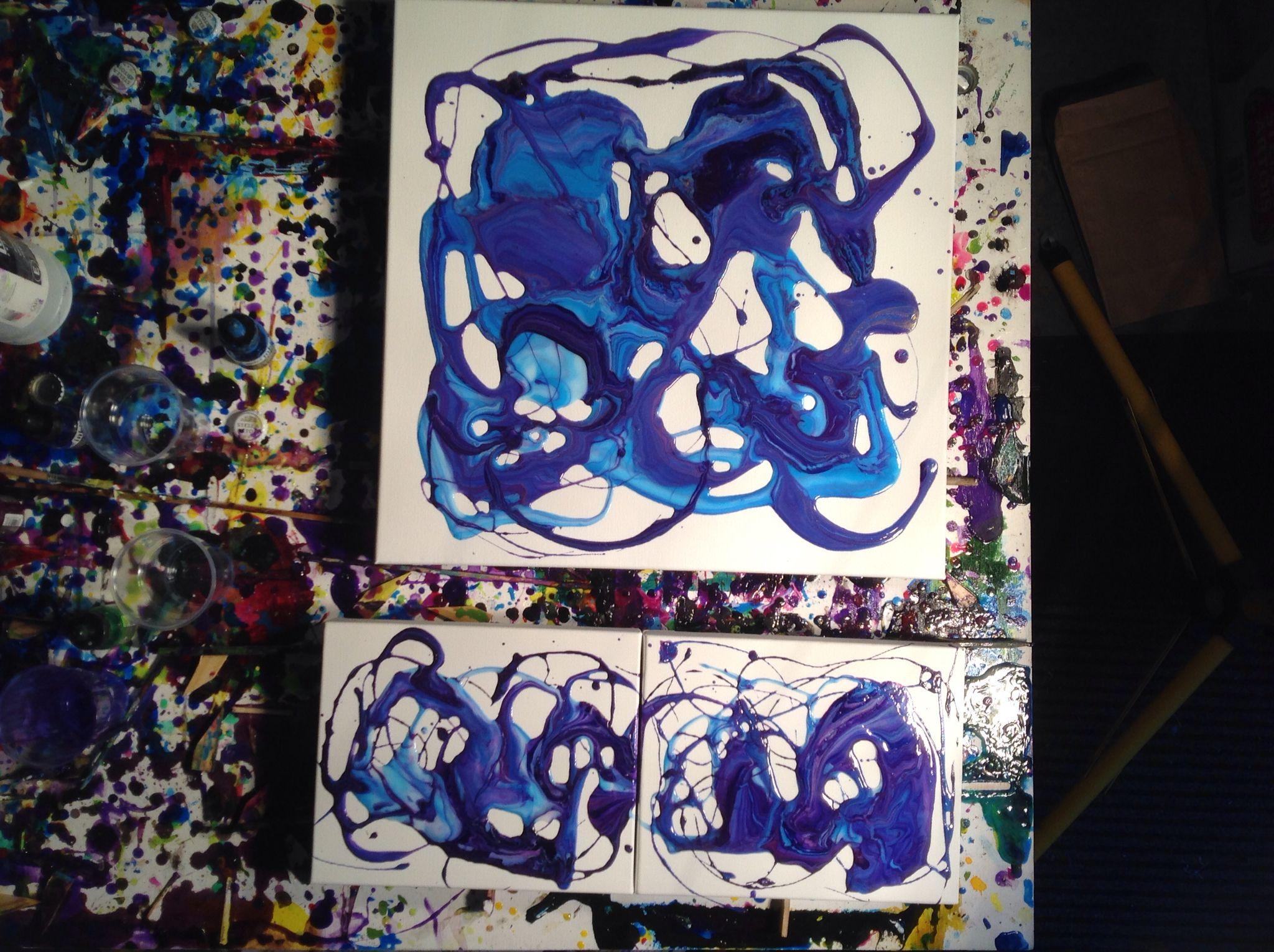 My last crazy cool fluid acrylic for 2015