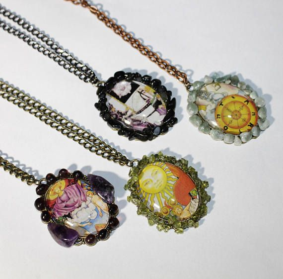 TAROT Custom Cameo Pendant Necklace Cabochon Jewellery Jewelry