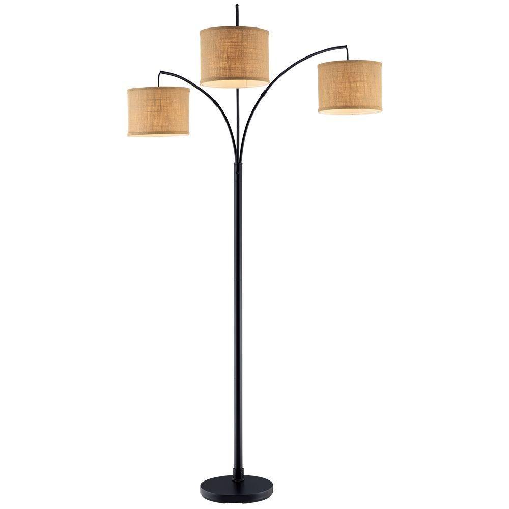 Fabulous Hampton Bay 80 In Antique Bronze 3 Arc Floor Lamp With Download Free Architecture Designs Crovemadebymaigaardcom