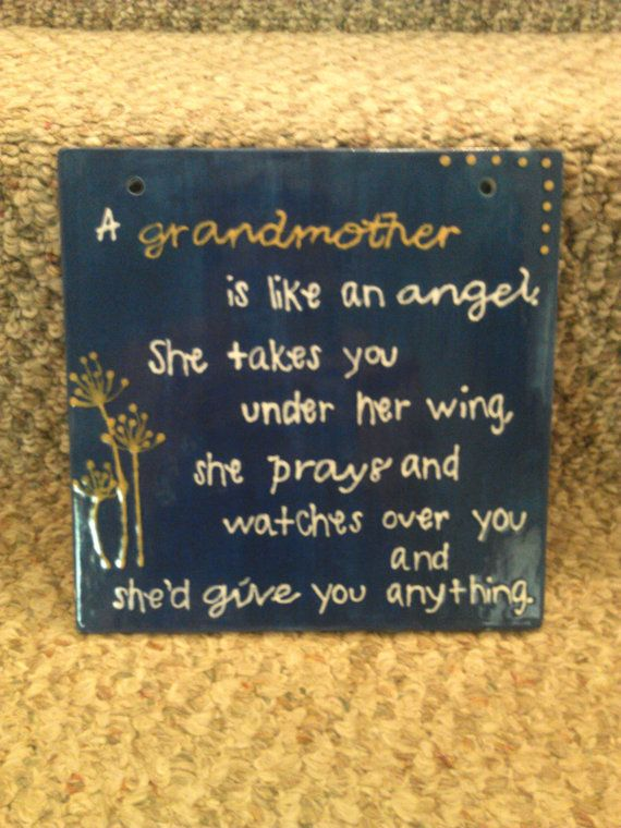 Mothers Day!! Grandmother Wall Hanging Quote by