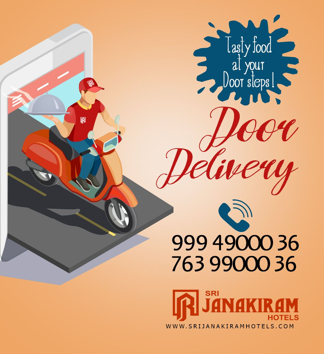 Traditional And Tasty Foods Now At Your Doorsteps Call 99949 00036 Or 76399 00036 For Home Deliv Delivery Menu Food Poster Design Creative Advertising Design