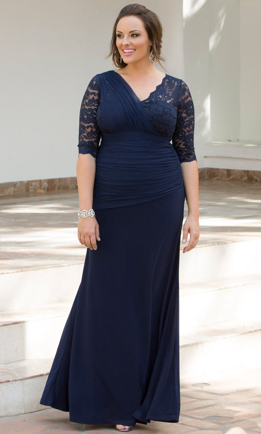77d24d6b0360c Shop for women s plus size formal dresses at Kiyonna! Our Soiree Evening  Gown