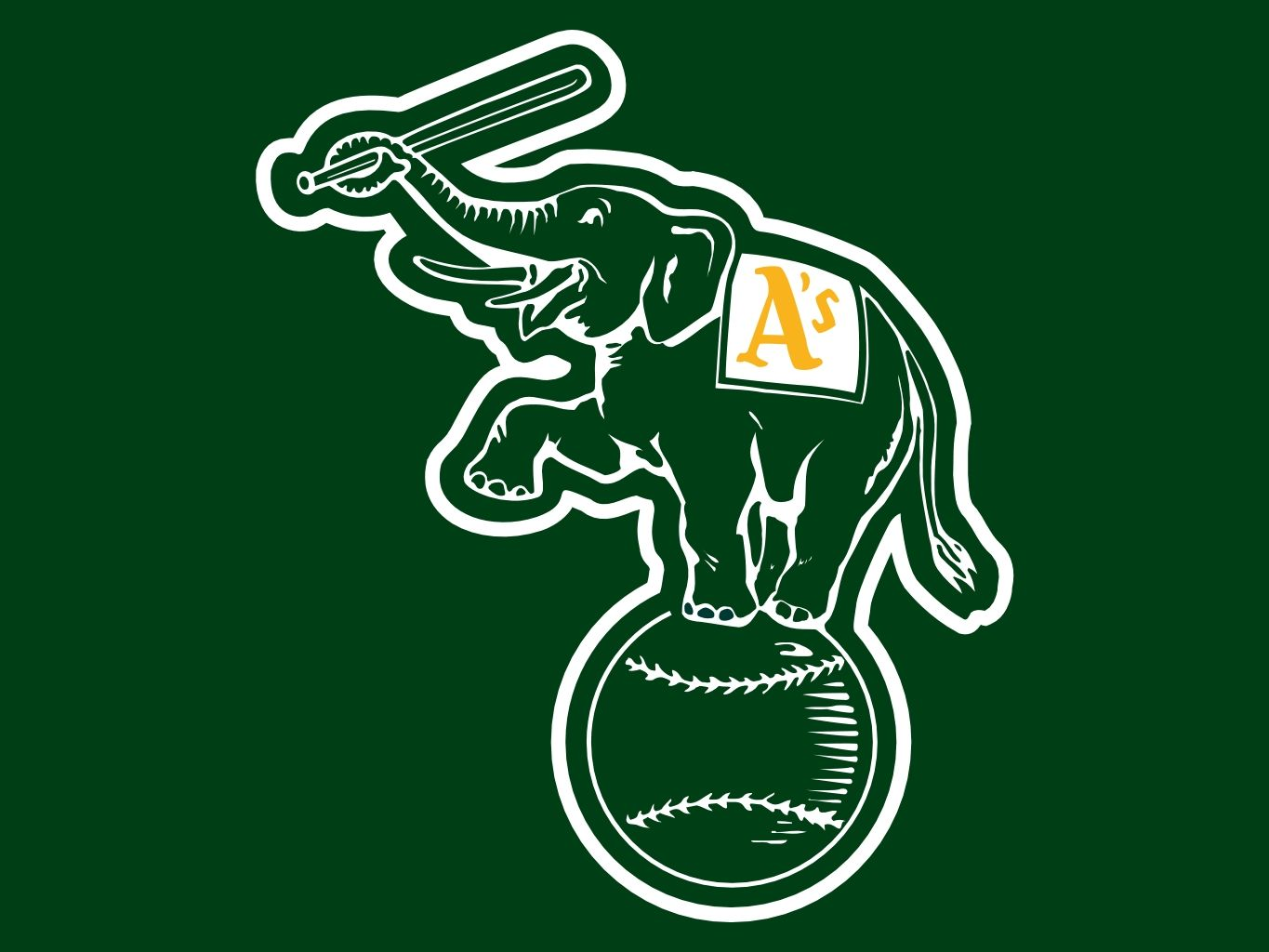 She oakland athletics the swinging as team banner looks