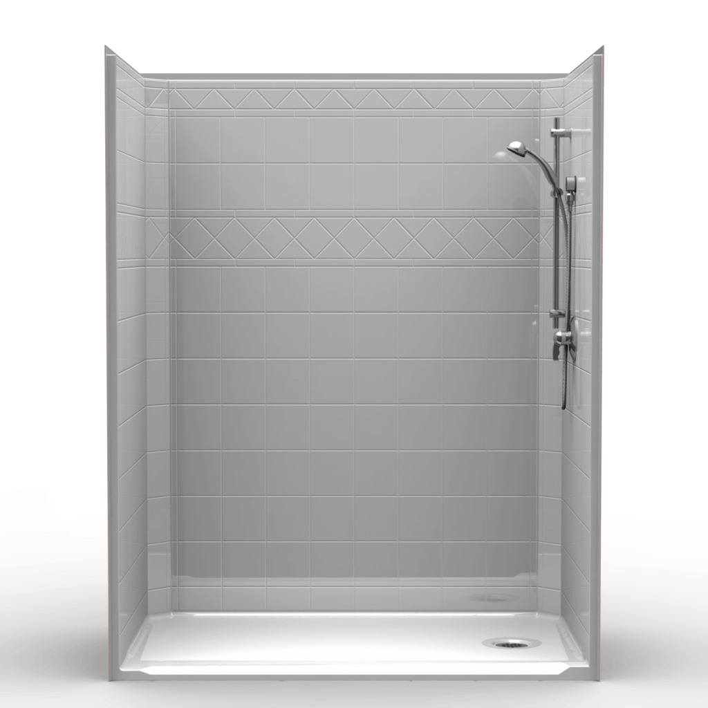 Single Piece Barrier Free 60 X 36 X 78 1 4 Shower Shower Accessible Shower Barrier Free