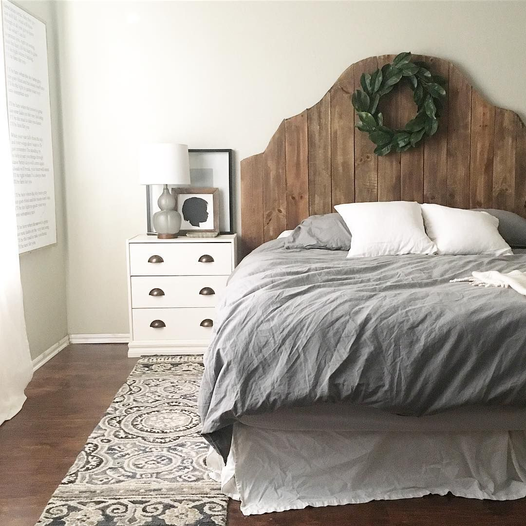 Wood Headboard, Master Bedroom Home Decor, Ikea Rast Hack