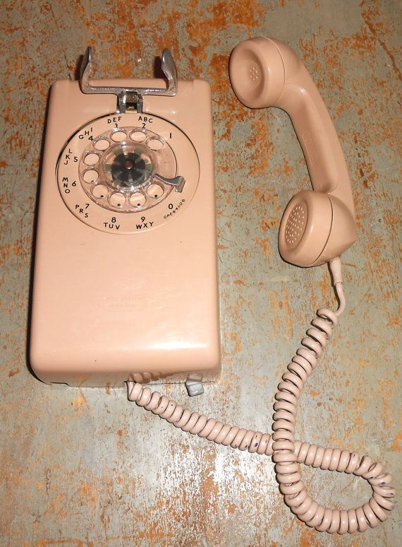 Vintage Telephone, Rotary, Wall Phone, Old Telephone, Wall Mount, Beige, Tan, Phone #wallphone Vintage Telephone Rotary Wall Phone Old Telephone by TheBackShak #wallphone