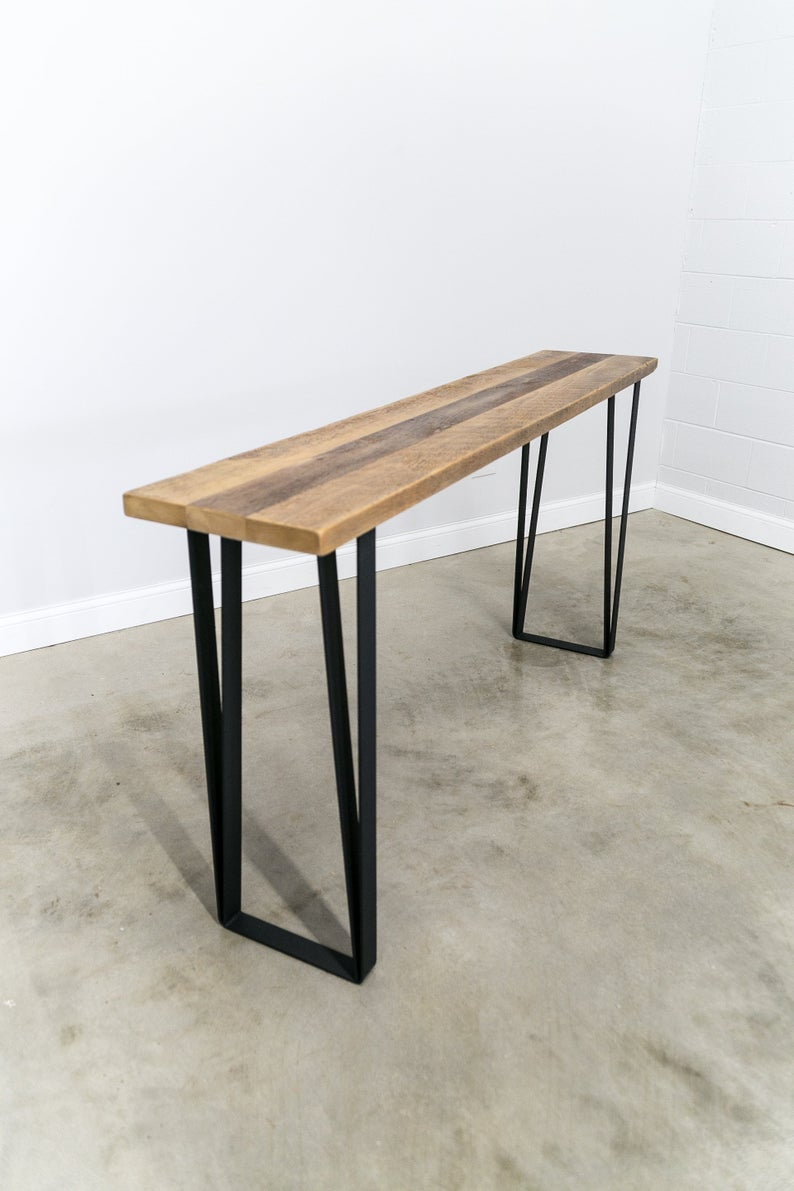 Counter Height Entry Table, 36 inch high,Hallway Table, Wood Table