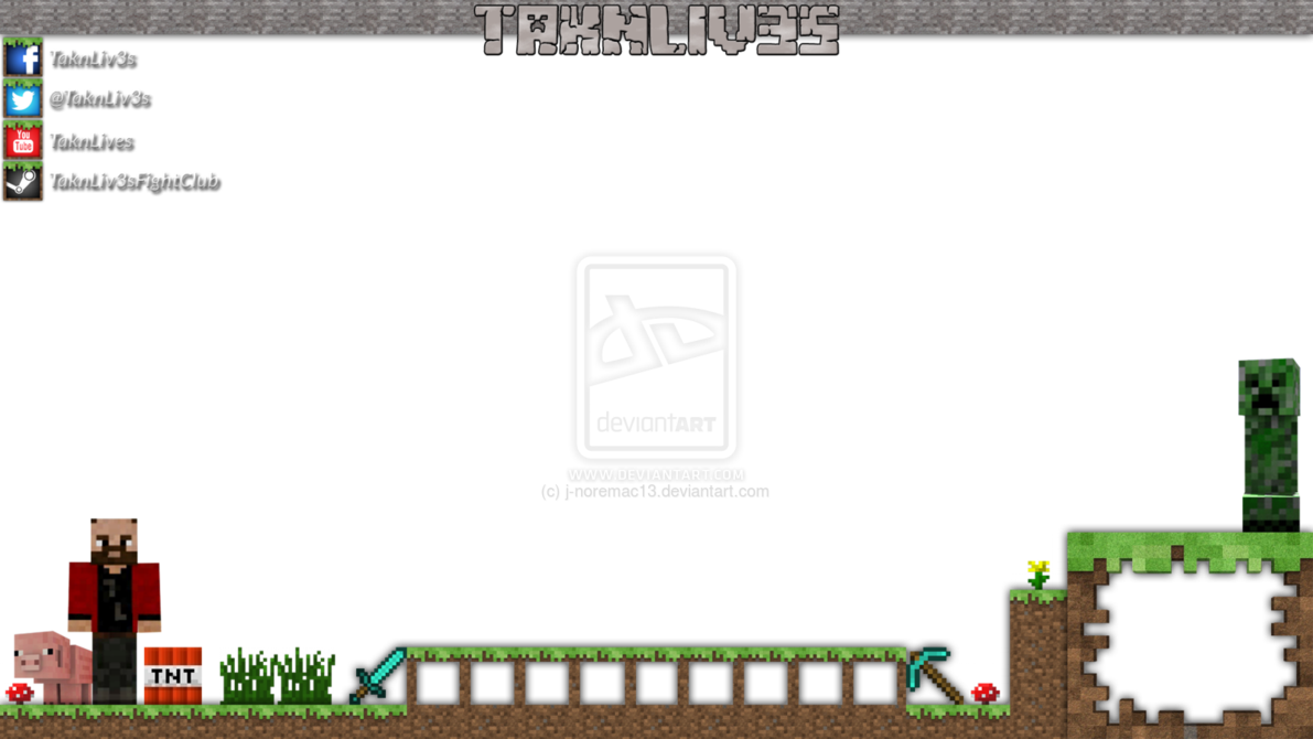 Pin Minecraft Twitch Overlay Template On Pinterest In 2021 Minecraft Overlays Templates