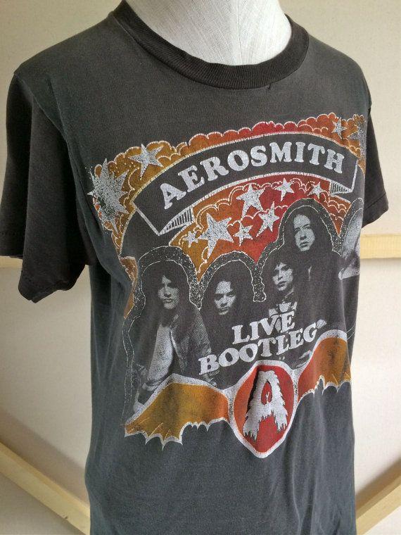 b1ac2def5 AEROSMITH 1978 Live Bootleg Vintage T-Shirt RARE Band Shirt | Personal Pins  | Band shirts, Vintage, Aerosmith