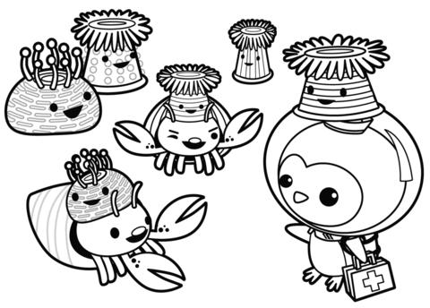 Anemone Hat Party Coloring Page Ausmalbilder Ausmalen Bilder