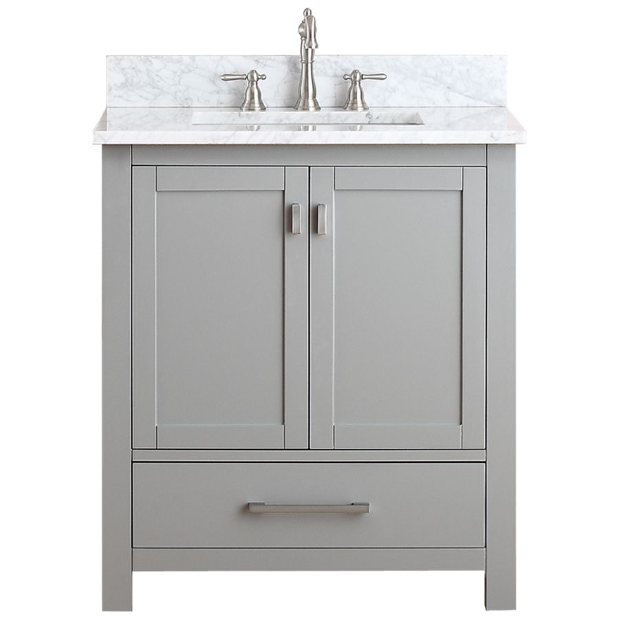 Avanity Modero Chilled Gray Undermount Single Sink Poplar Bathroom
