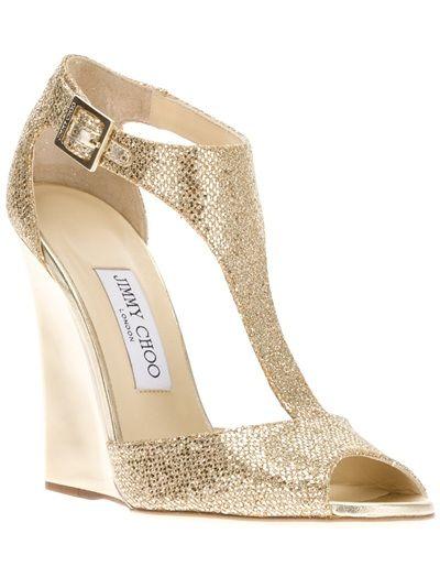 5d67f0682a817 Jimmy Choo'Tweak' Wedge Pump in Gold #formal #shoes #wedges #heels ...