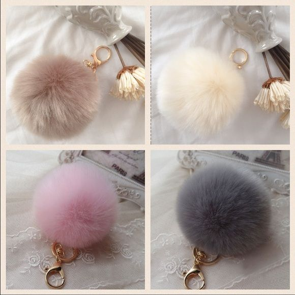 42dcf69afd81 10CM PomPom Fur Ball Keychain Bag Charm This Gorgeous PomPom will give a  fantastic