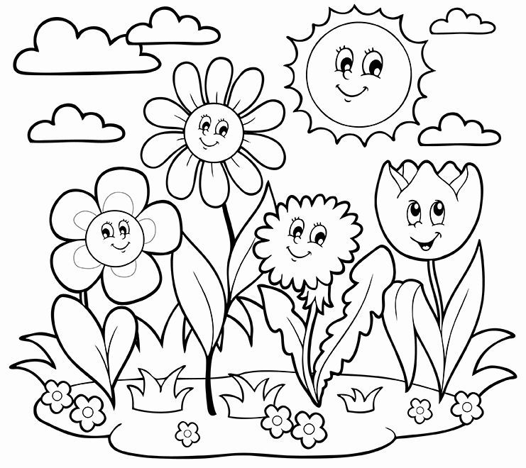 April Showers Bring May Flowers Coloring Page Fresh Growing Things