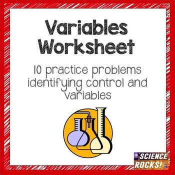Identifying Variables Worksheet Worksheets Students And School