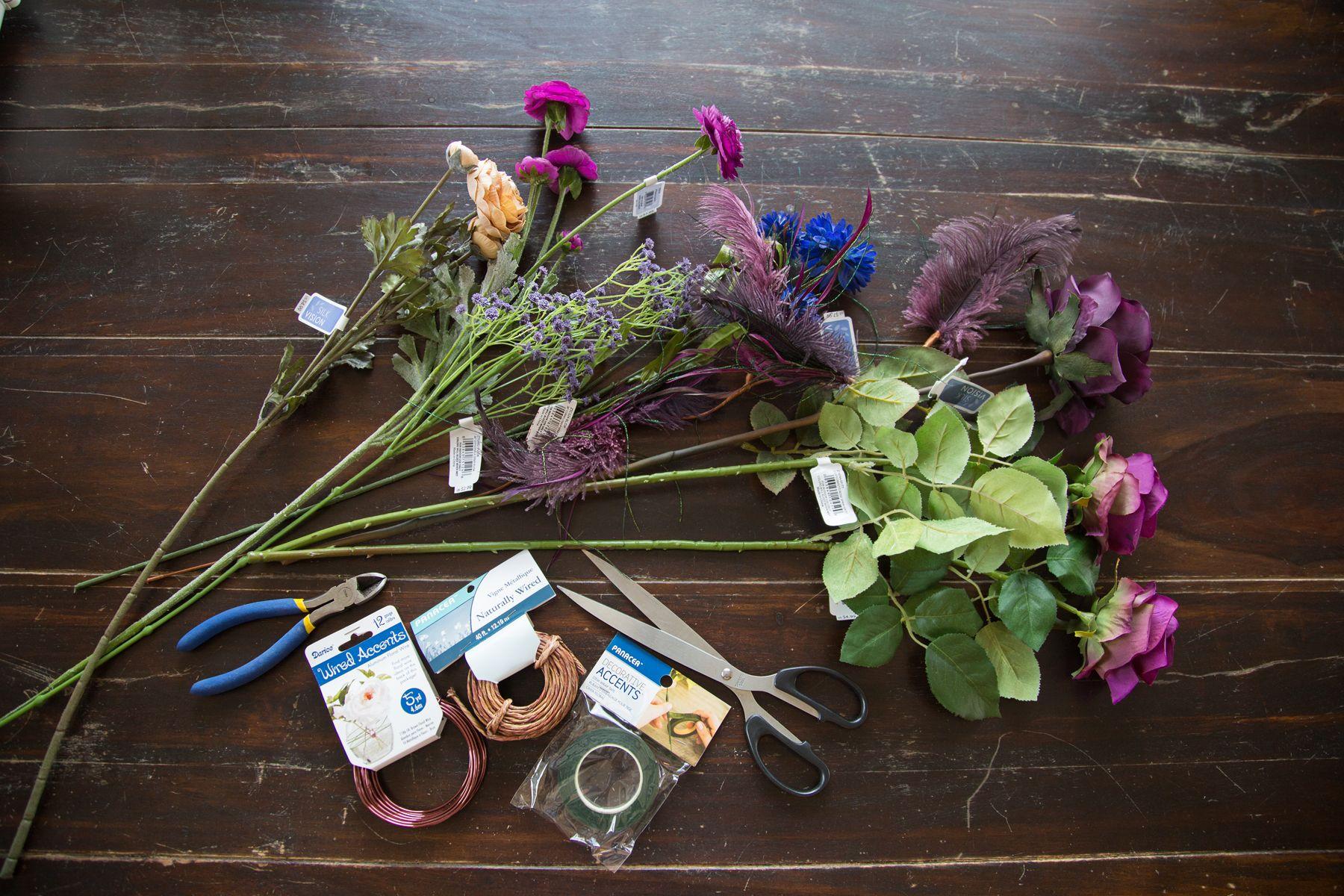 Diy flower crown materials crafts pinterest diy flower crown diy flower crown materials izmirmasajfo