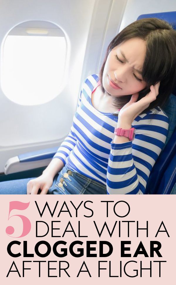 how to fix clogged ears from flying