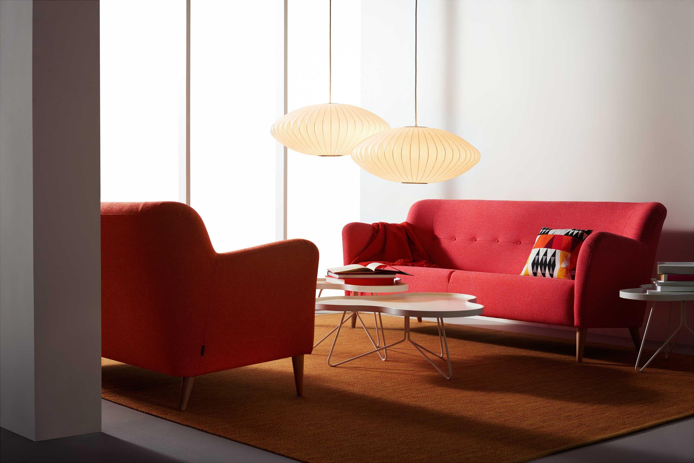 Swedese Nova sofa Flower table by Swedese