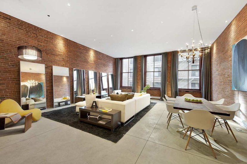50 Bold And Inventive Dining Rooms With Brick Walls: SEE THIS HOUSE: A MULTI MILLION DOLLAR NEW YORK CITY LOFT