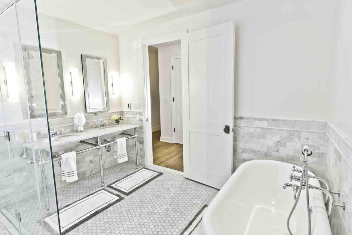 Brilliant modern and classic french style master bathroom Love the ...