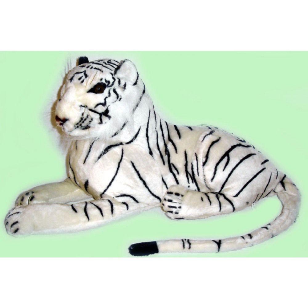 Tiger liegend weiß ca 60 cm aus Großhandel und Import