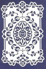 English Embossing Stencil - Violets (EE3407)