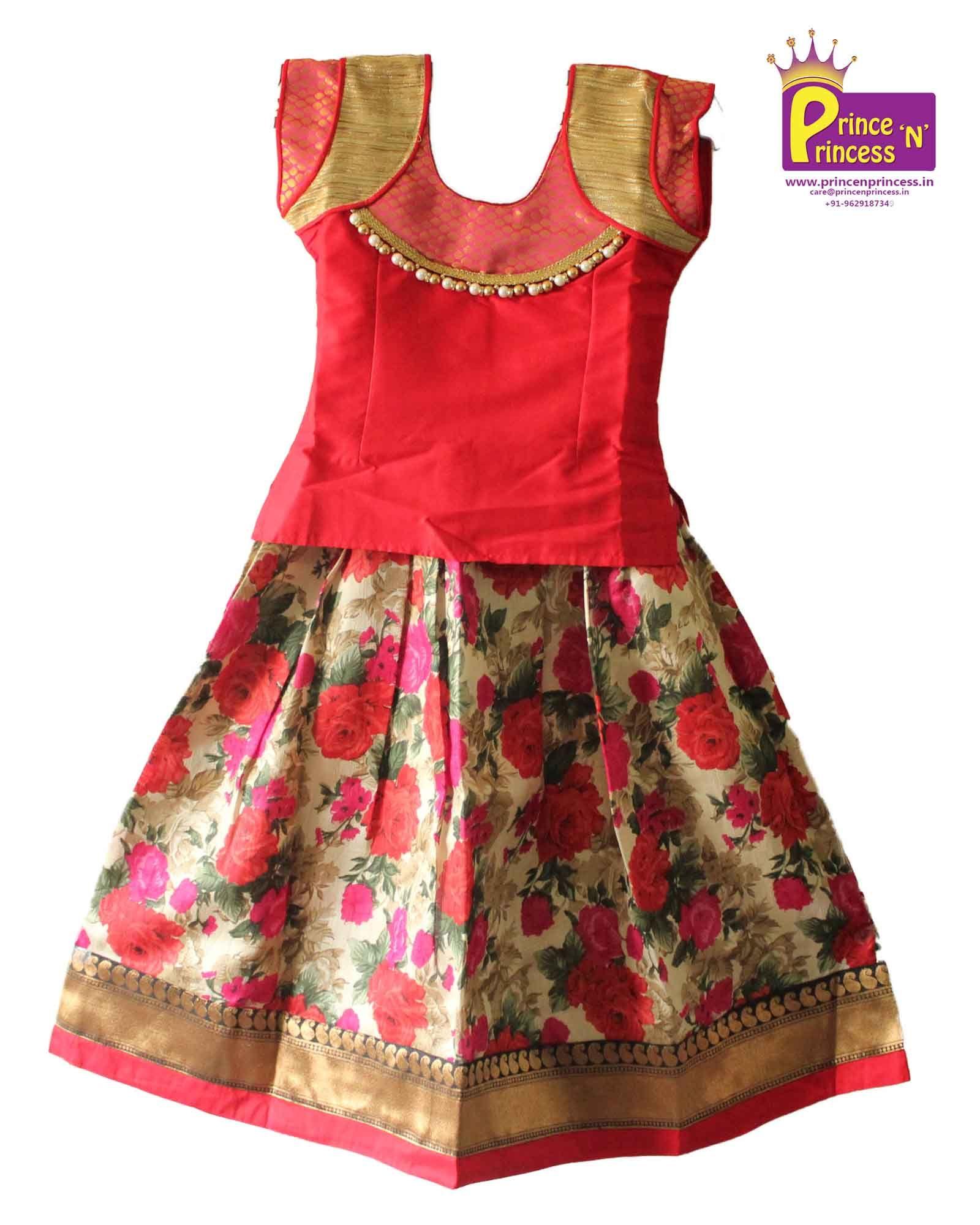 Kids Pattu Pavdai Langa For More Details Www Princenprincess In Princess Pattu Pavadai L Kids Blouse Designs Kids Designer Dresses Baby Girl Dress Patterns