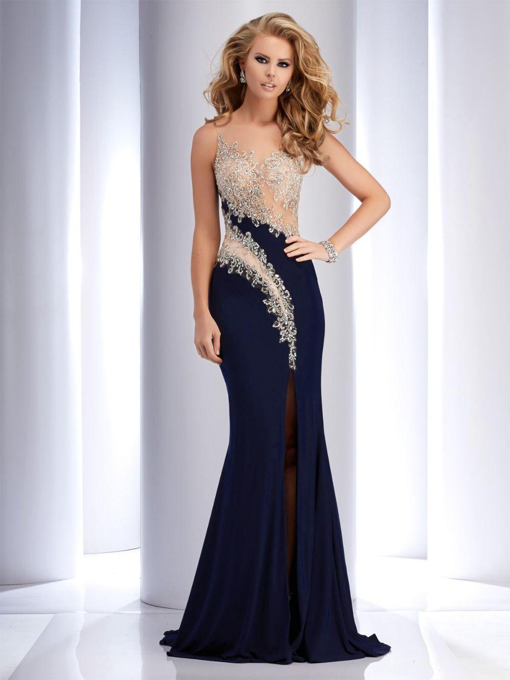 Online Shop HH Mermaid Evening Dresses Long 2017 Chiffon Vestido De ...