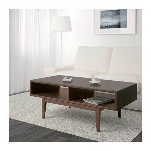 Regissor Coffee Table Brown Glass 46 1 2x23 5 8 Coffee