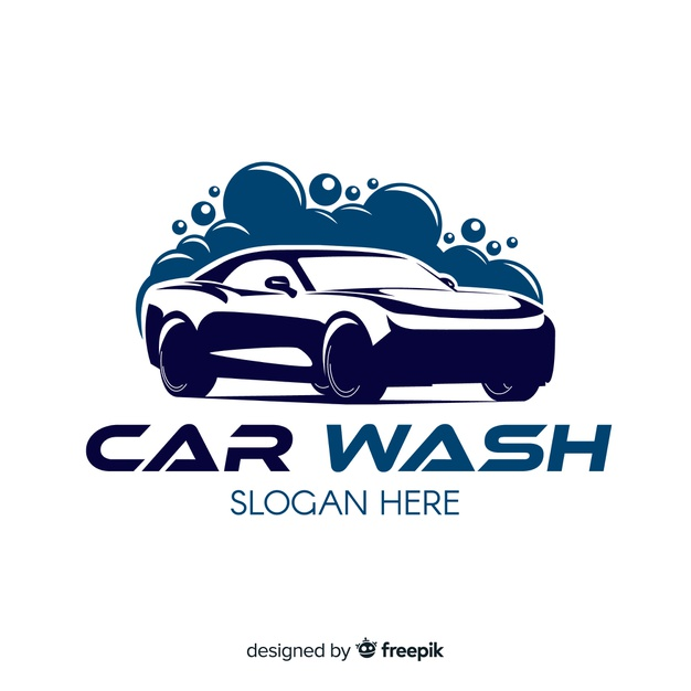 Download Flat Blue Car Wash Logo for free in 2020 (With