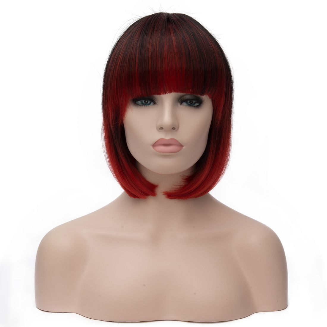 cheap dark red wig short bob wigs for graduation party