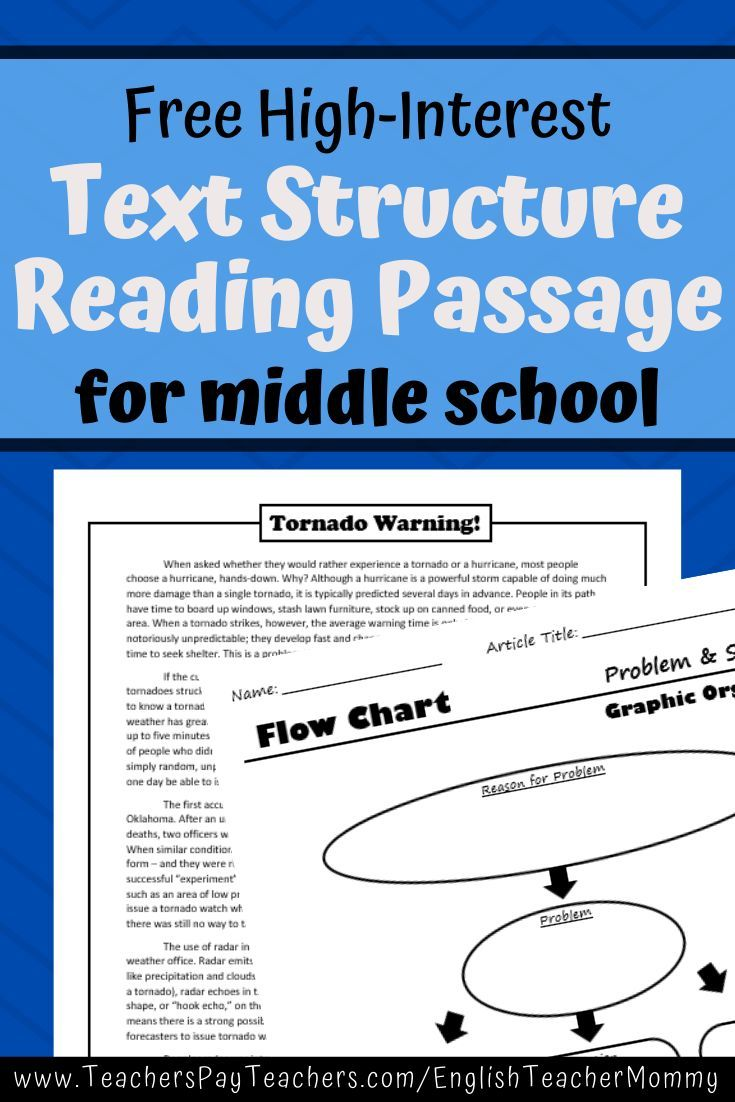 Nonfiction Text Structure Passage Tornado Warning! in