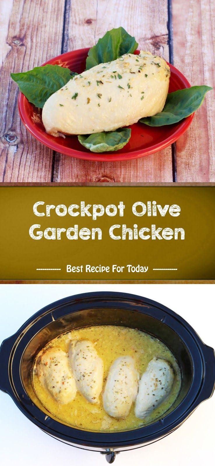 Crockpot Olive Garden Chicken in 2020 Chicken crockpot