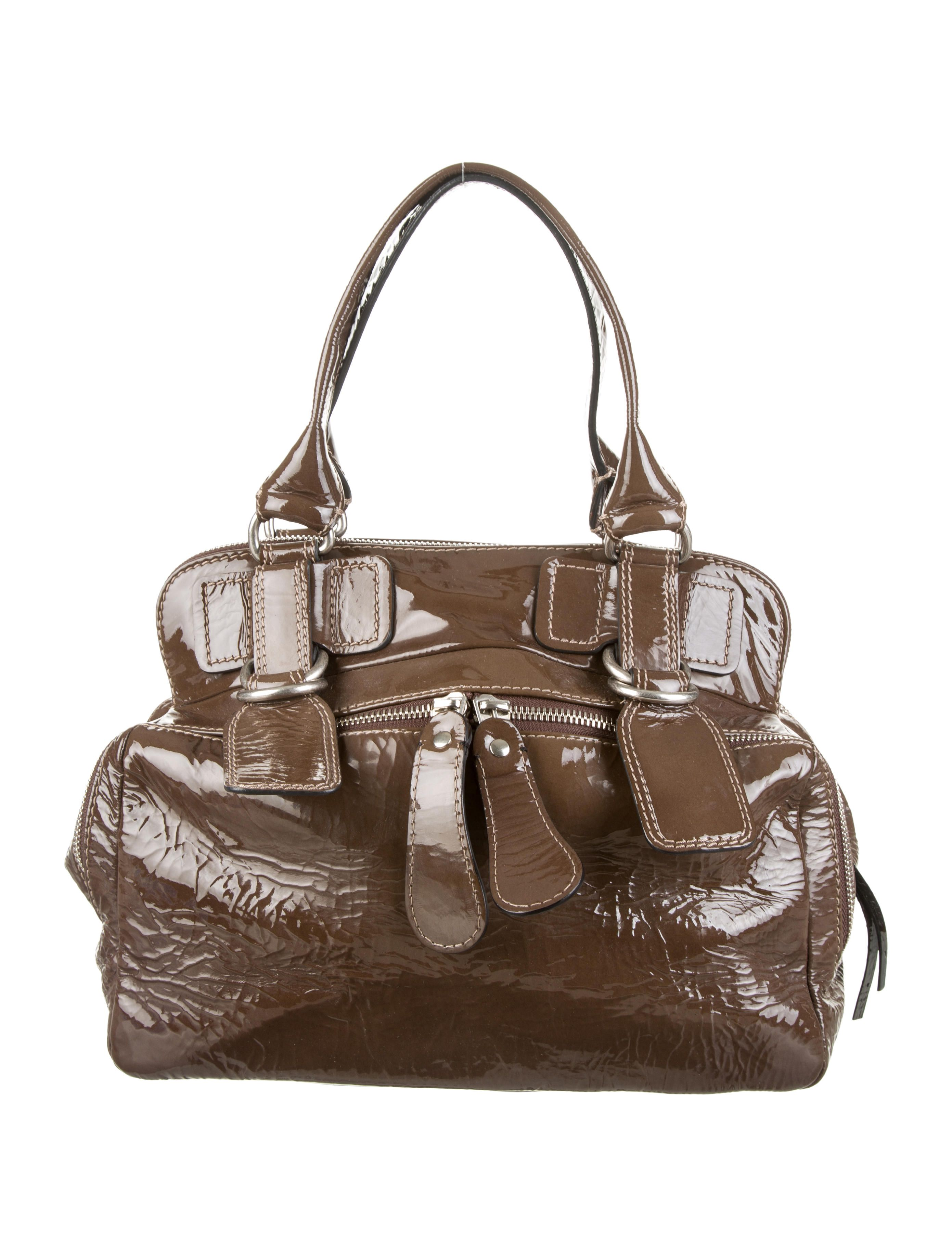0ed6e4ec0a Olive brown patent leather chloé bay bag with silver tone hardware dual  exterior zip jpg 2782x3670