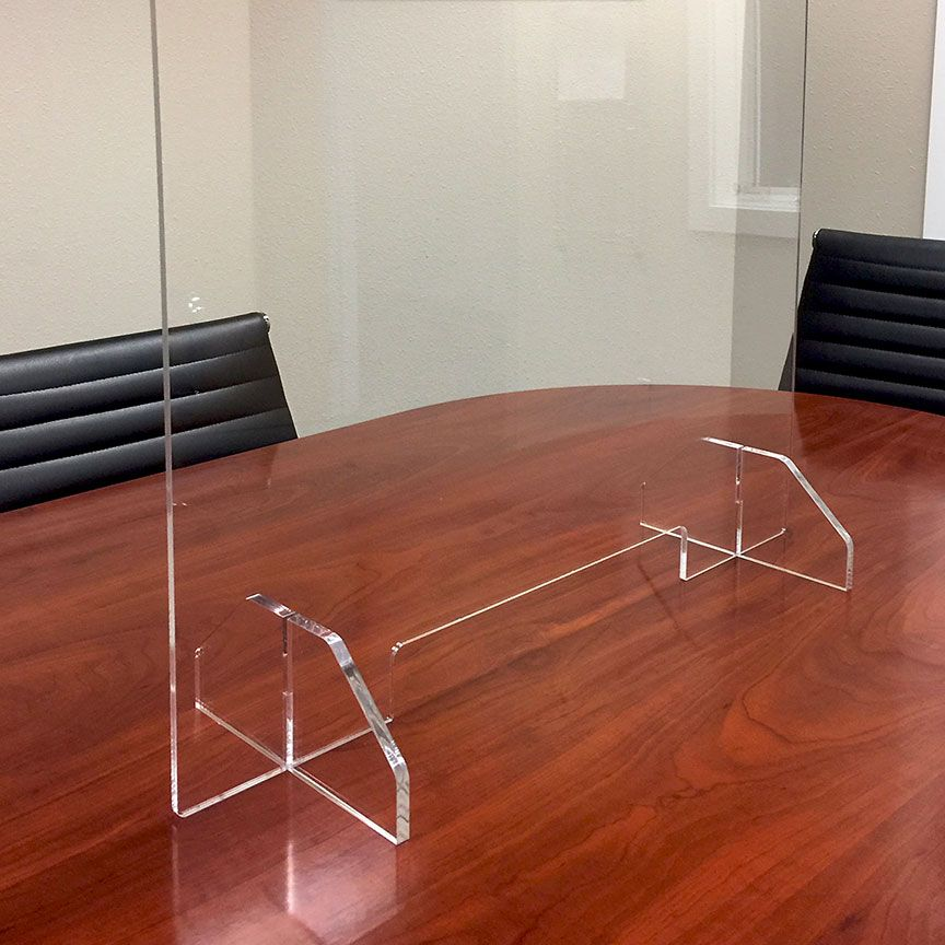 Acrylic Sneeze Guards For Stores Restaurants And Office Spaces In 2020 Divider Screen Acrylic Table Acrylic