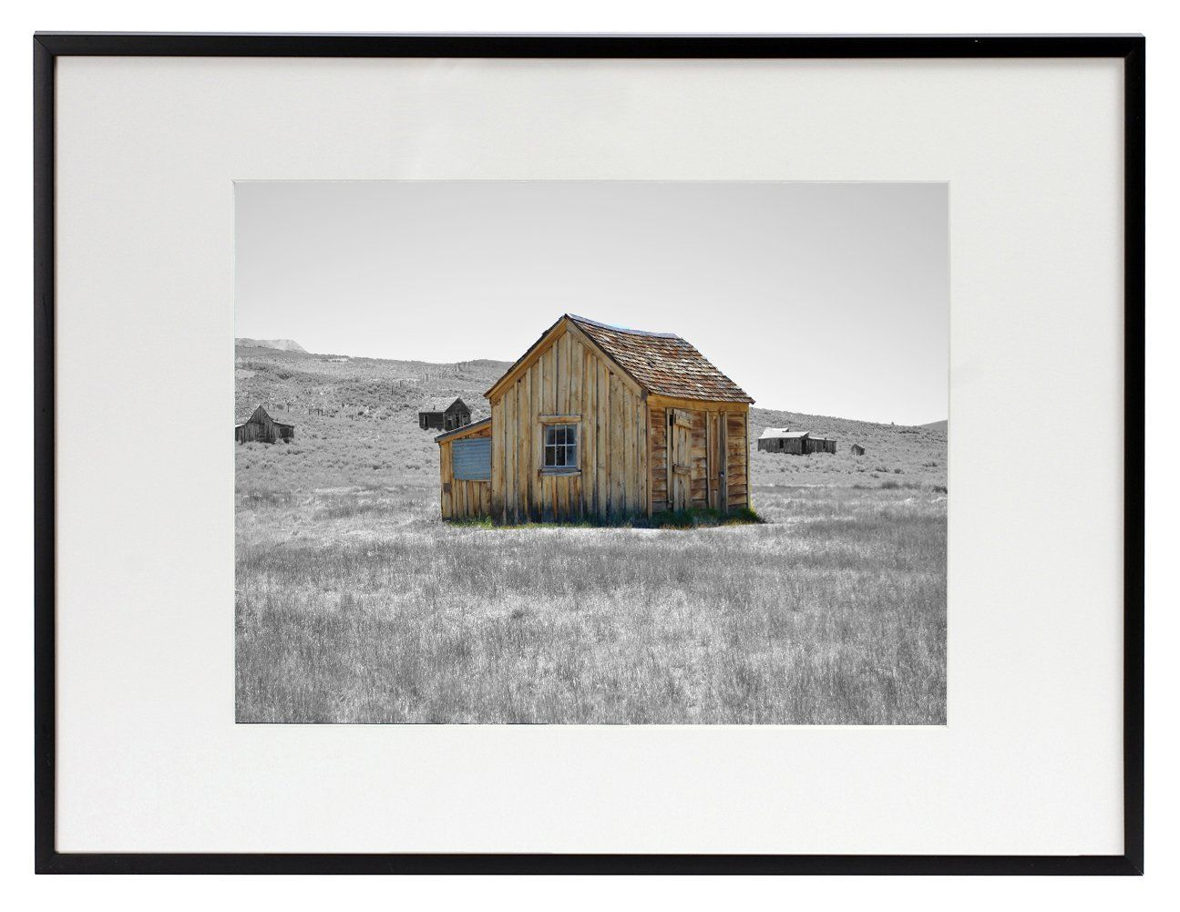 Frametory 12x16 Aluminum Matte Black Photo Frame With Ivory Color