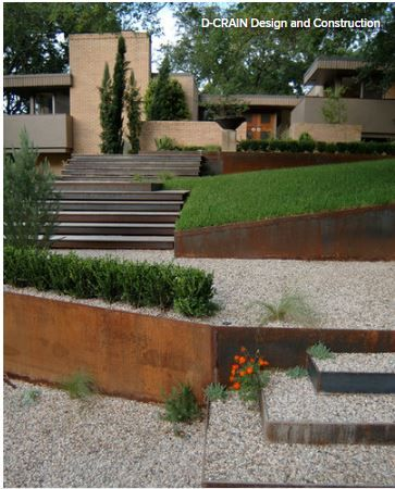 retaining walls for slopping yard at houzz Garden Design