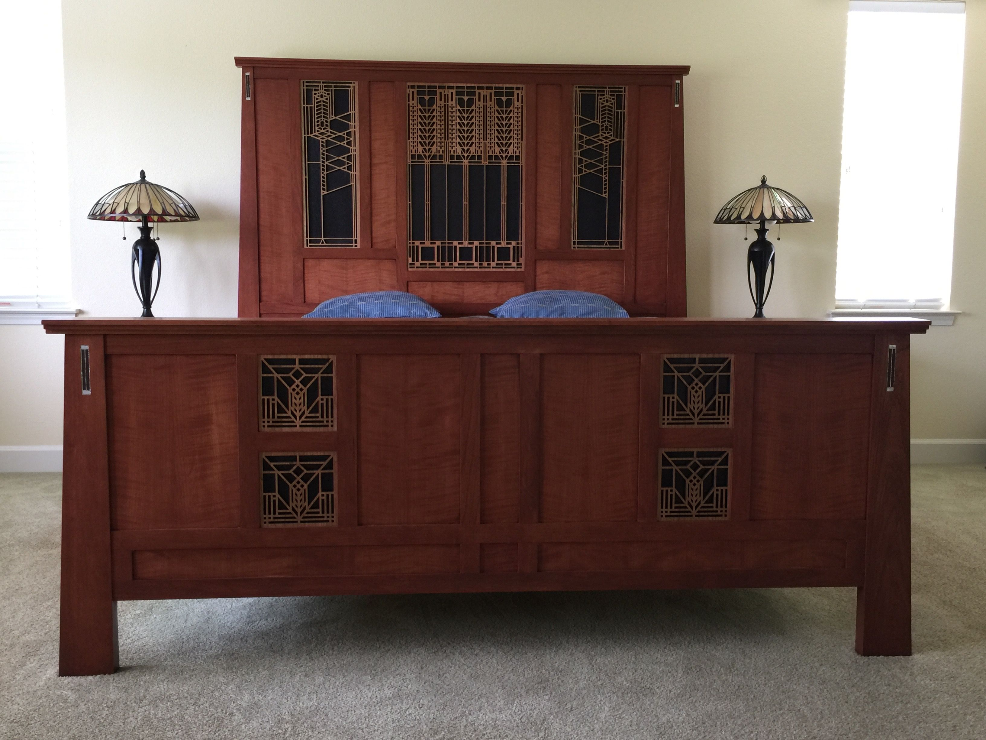 Frank Lloyd Wright Inspired Bed Starbuck Furniture And Nallen Design