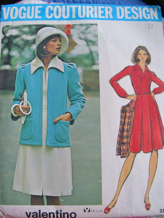 UNCUT  1970s  Designer VALENTINO Pattern   Vogue by anne8865
