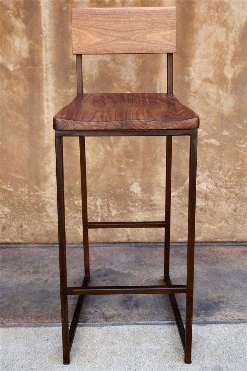 Pleasing Metal Wood Bar Stool 36 Stool Barstool Chair Metal Inzonedesignstudio Interior Chair Design Inzonedesignstudiocom