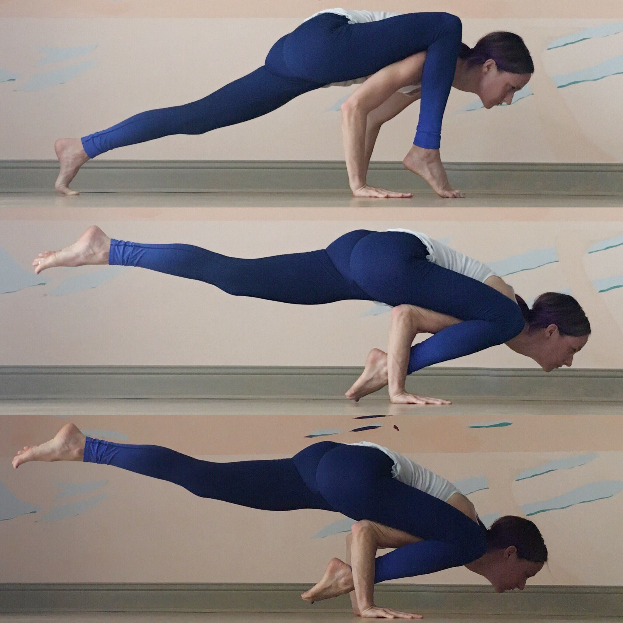 Lizard Pose To Arm Balance