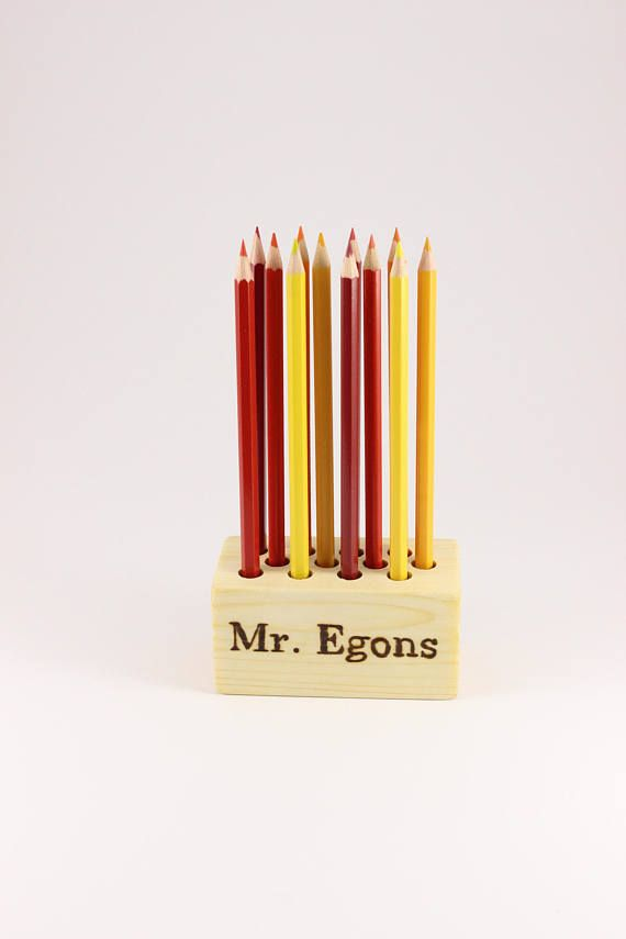 Personalized Wooden Pencil Holder Pen Holder Personalized Wooden